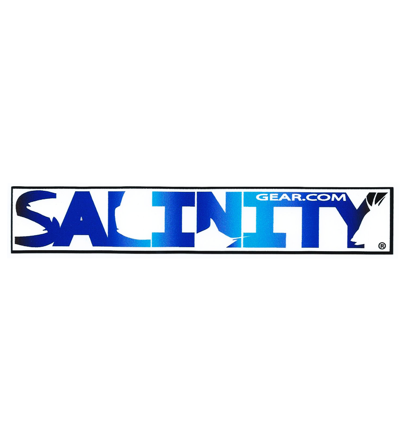 Salinity Blue Water Logo sticker with UV protective coating
