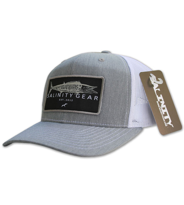 Wahoo Patch Hat - Heather Grey/White