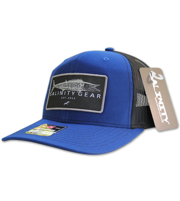 Wahoo Patch Hat - Royal/Black