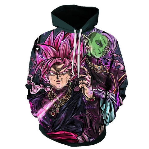 Goku Black And Zamasu | Dragon Ball Super Hoodie Jumper