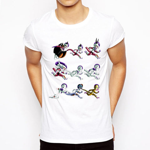 Evolution of Villains Majin/Vegeta/Freeza/Cell T-Shirt