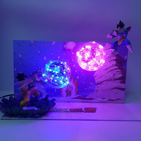 Dragon Ball Z Son Goku Kamehameha VS Vegeta Galick Gun LAMP!