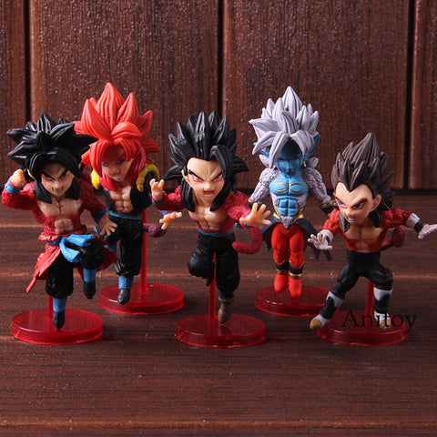 Dragon Ball Heroes 5 Piece BUNDLE Set Of Super Saiyan 4!