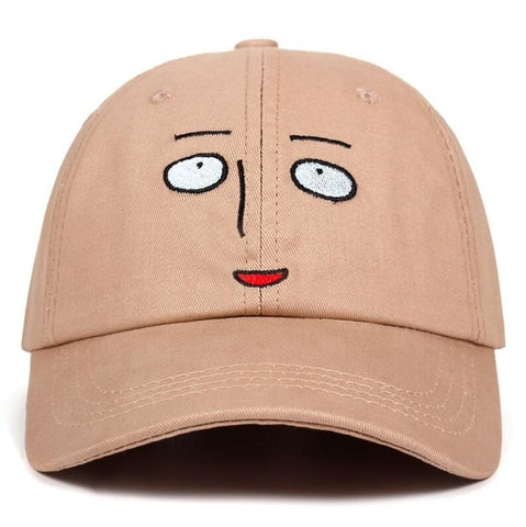 "SAITAMA ""Clueless Face"" Cap Luxury Embroidered"