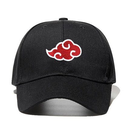 "AKATSUKI ""Red Cloud"" Cap Luxury Embroidered 1"