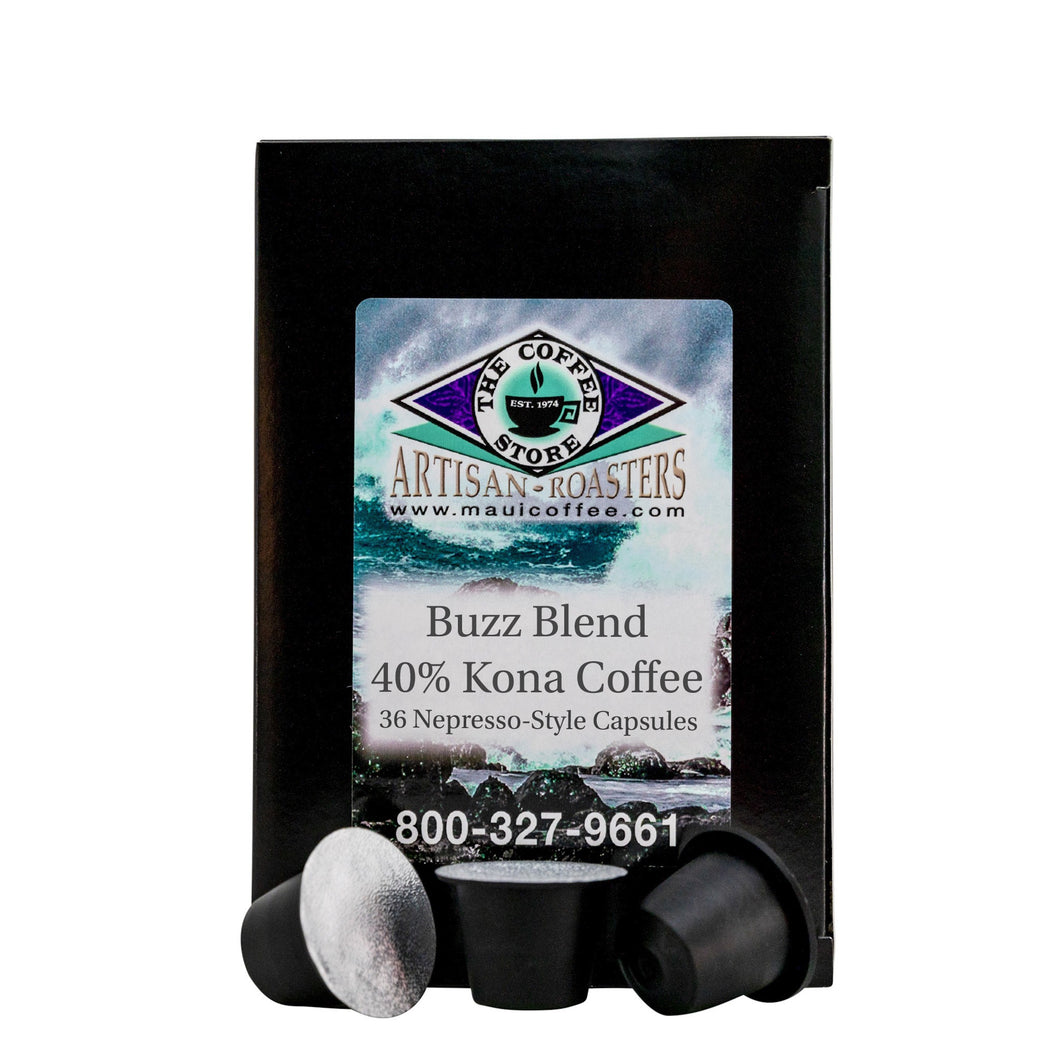 Buzz Blend - 40% Kona Coffee Pods
