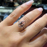 Exquisite Pear Ring