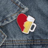 2pc Broken Heart Pin Set