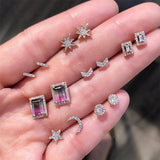 Crystal Studs 7pc Set