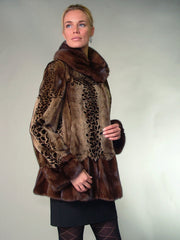 DEMI BUFF SHREARED MINK FUR JACKET [K-668]