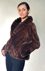 SHEARED MINK FUR JACKET [L-401]