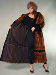 SCULPTURED MINK FUR COAT [T-602ZP]