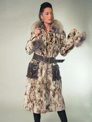 SCULPTURED MINK FUR COAT [Z-15]