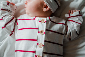 Remy Knotted Baby Gown in Red
