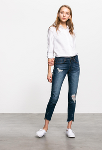 The Urban Distressed Skinny Jeans