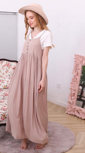 Virginia Maxi Dress in Taupe