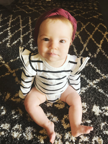 The Poppy Stripe Onesie