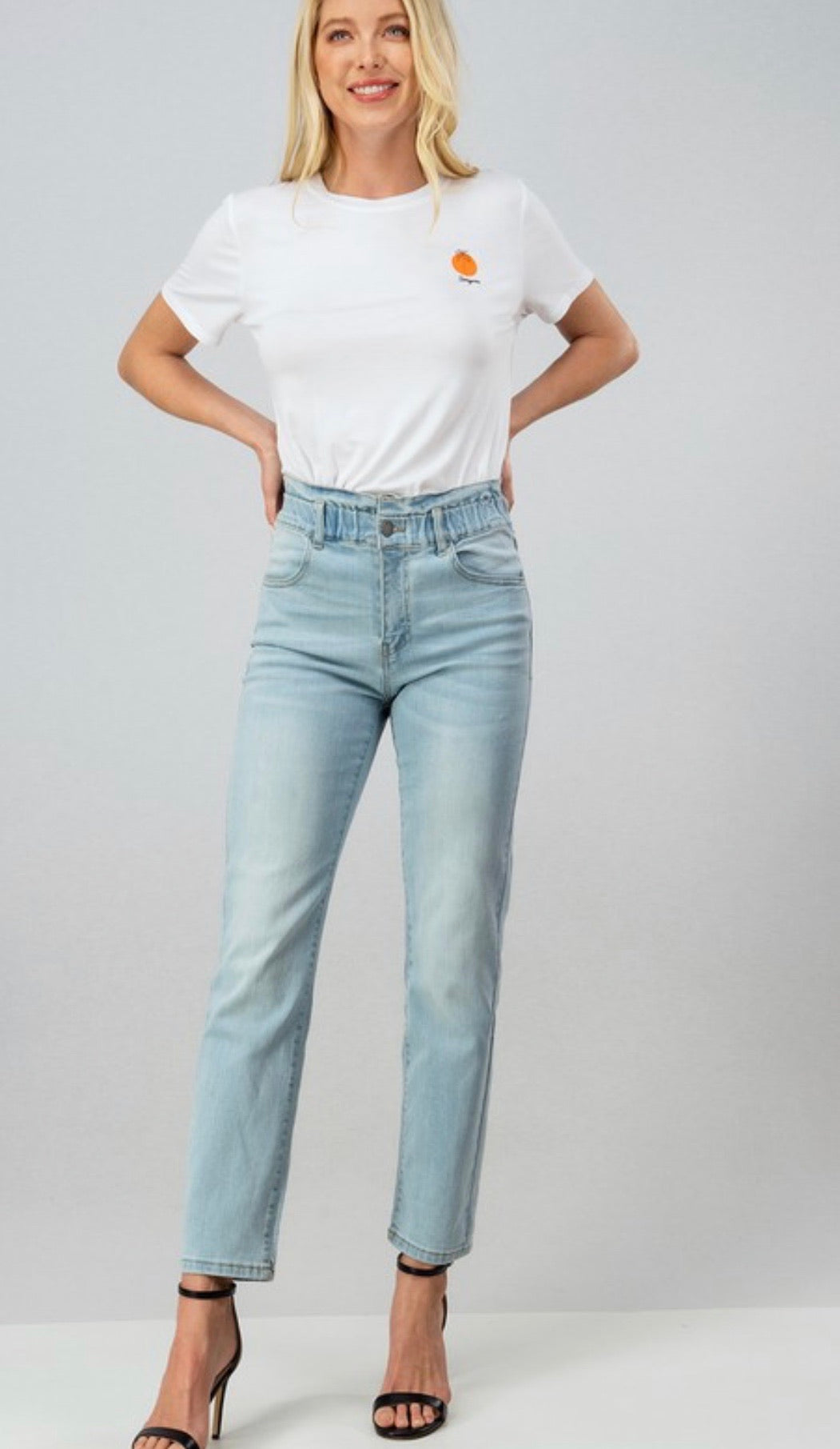 The Gem Paper bag Light Denim Jeans