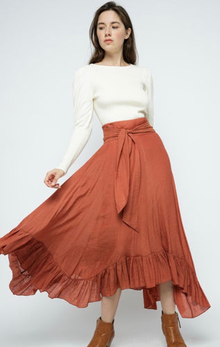The Flora Skirt in Terra Cotta