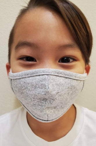 Soft cotton children's mask in heather gray