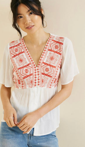 The Nadia Embroidered Top