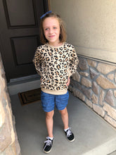 Girls Leopard Print Sweatshirt