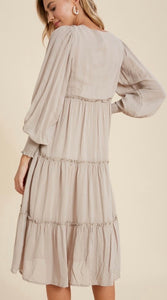 The Stella Dress in Taupe