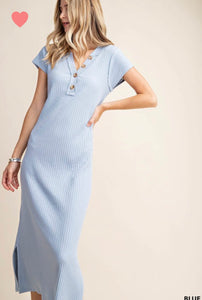 The Gentry Dress in Blue