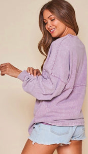 The Summer Nights Pullover in Purple