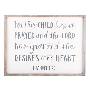 For This Child I Have Prayed Board