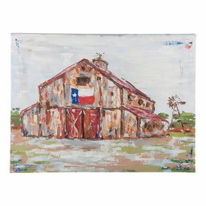 Barn with Texas Flag