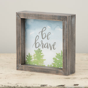 Be Brave Framed Watercolor
