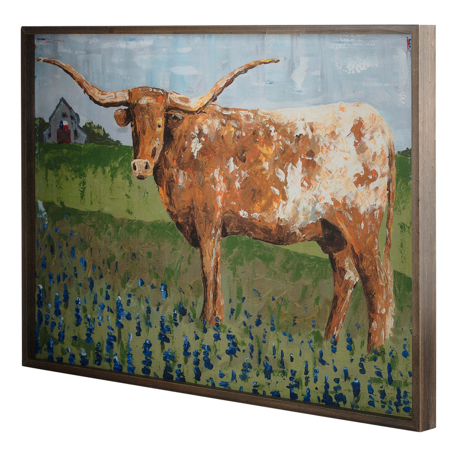 Texas Longhorn Framed Canvas