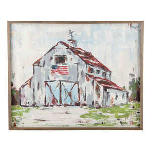 God Bless America Home Sweet Home Framed Canvas