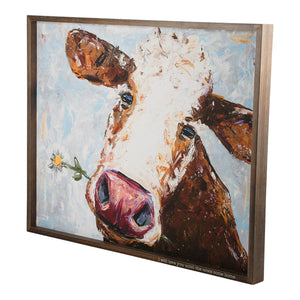 Love you until the Cows Come Home Framed Canvas