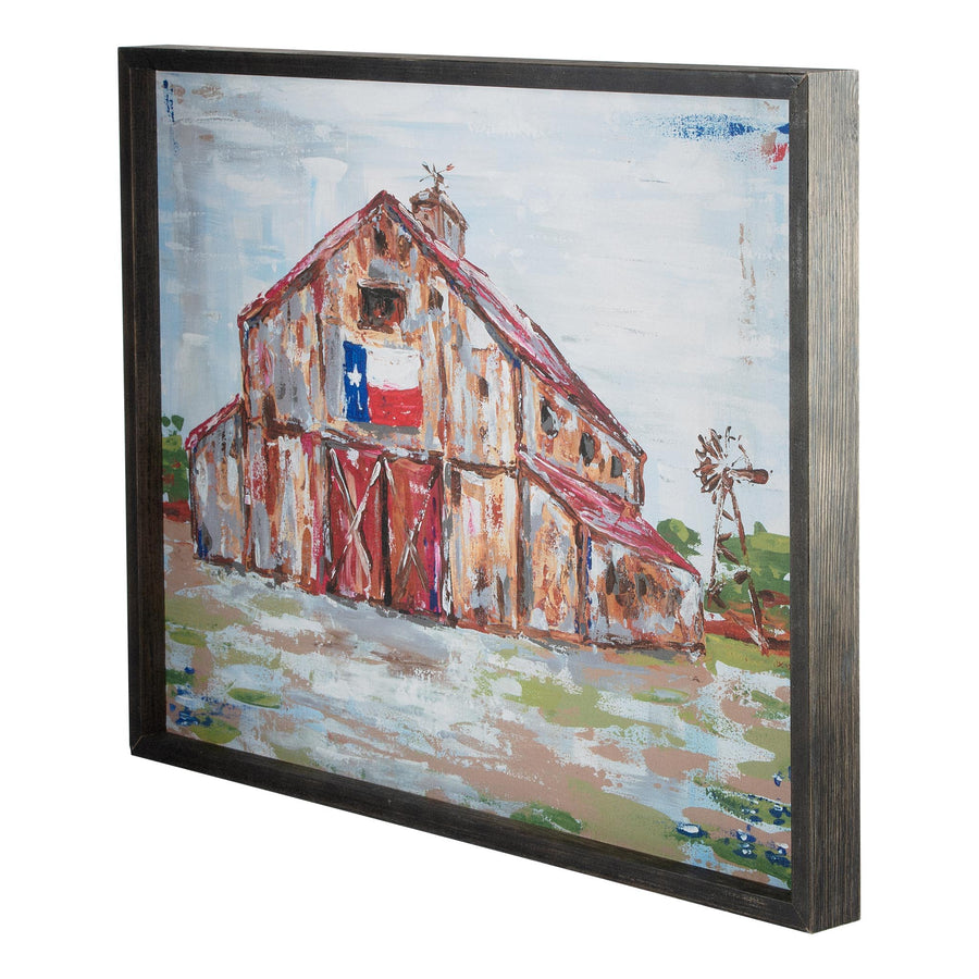 Texas Barn Framed Canvas