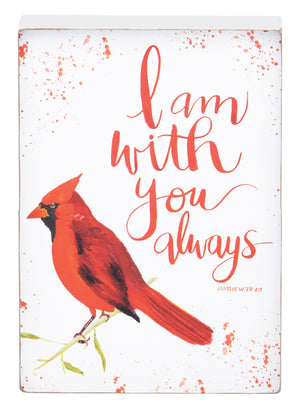 Red Bird With You Always Block