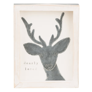 Deerly Loved Framed Board