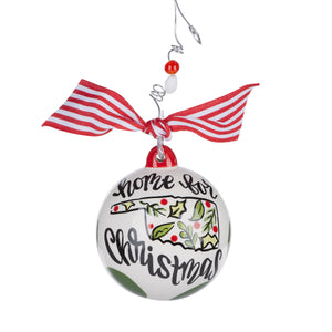 Oklahoma Home for Christmas Ornament