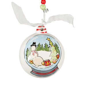 Joy to the World Snowglobe Ornament