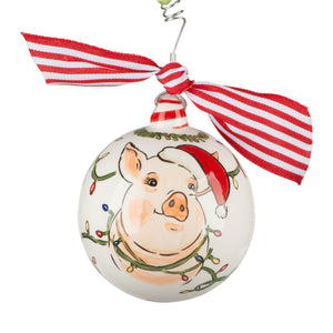 Merry and Bright Pig Ornament