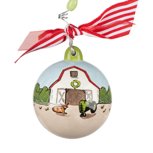 Barn and Tractor Ornament