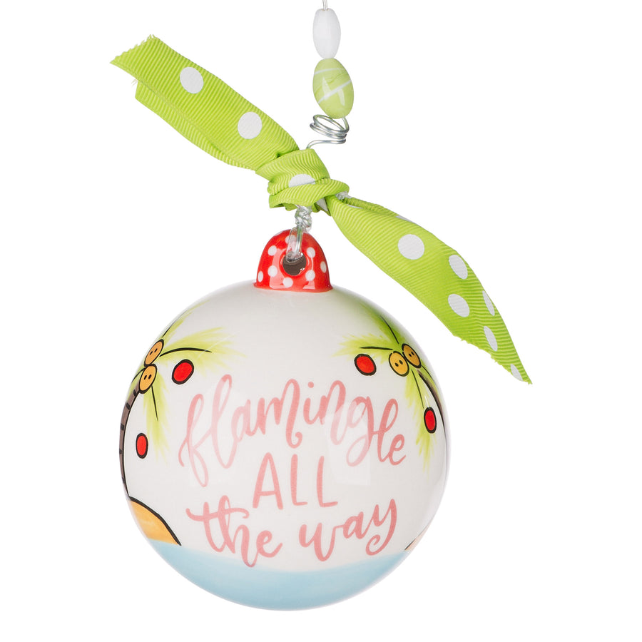 Flamingle All the Way Ornament