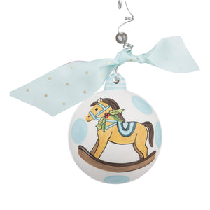 Blue Baby's 1st Rocking Horse Ornament