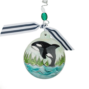 Orca Whale Christmas Ball Ornament