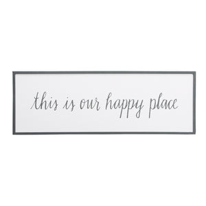 Our Happy Place Framed Board