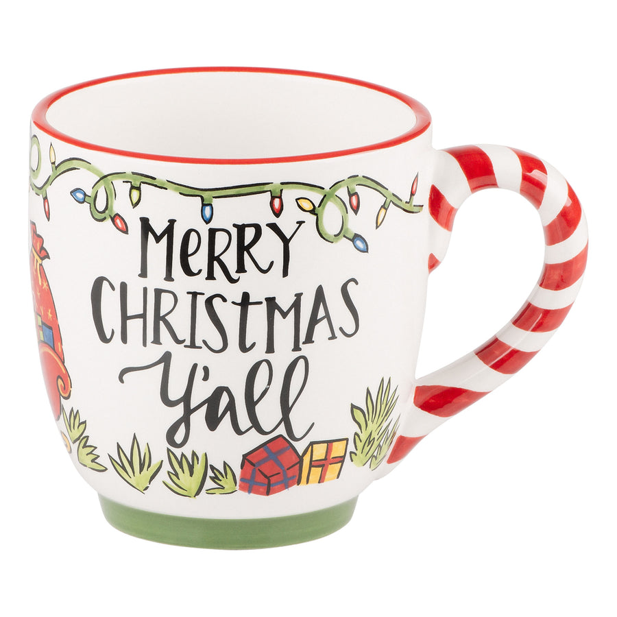 South Carolina Merry Christmas Palmetto Mug