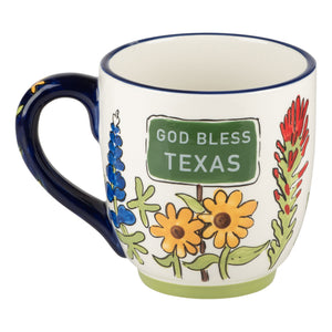 God Bless Texas Wildflower Mug