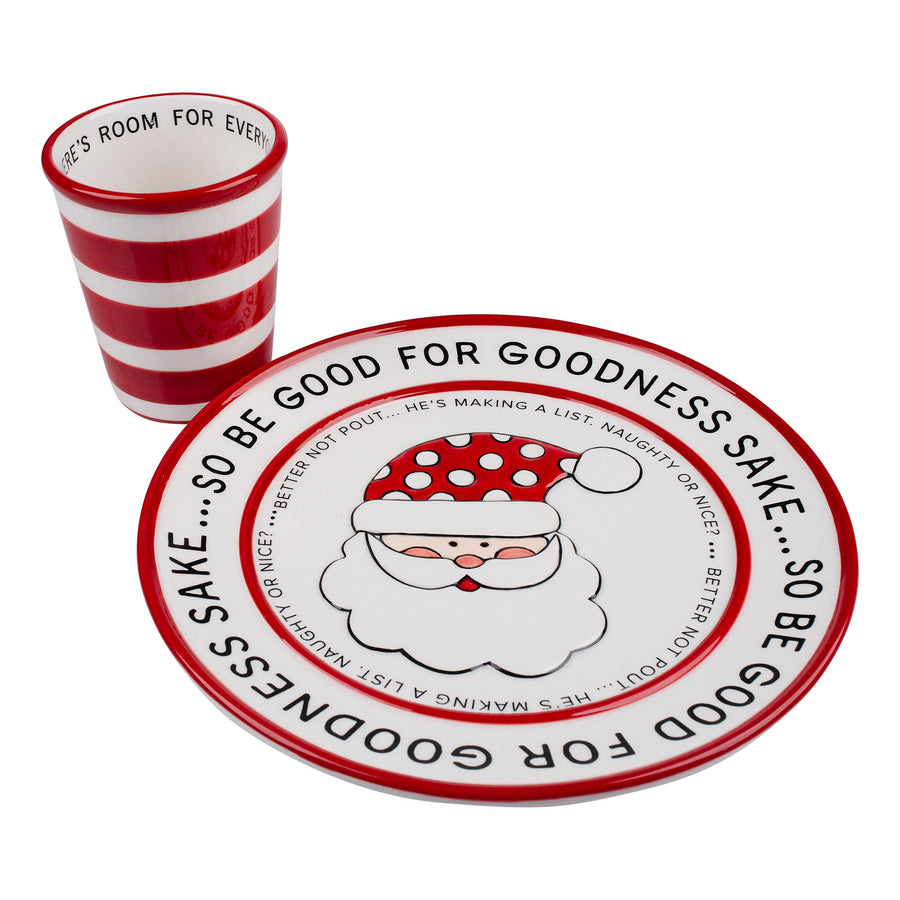Santa Cookies and Milk Set