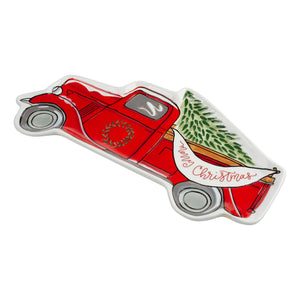 Red Truck Christmas Trinket Tray